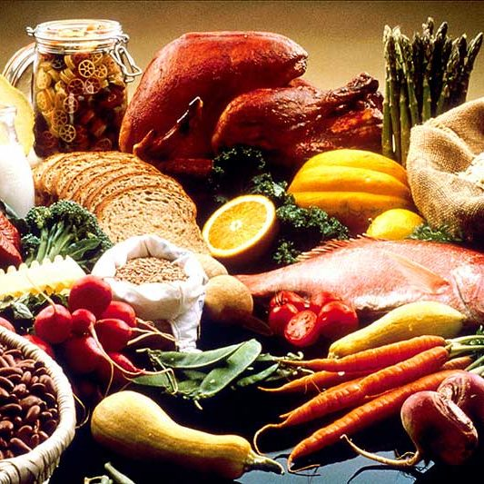 Various nutritious foods