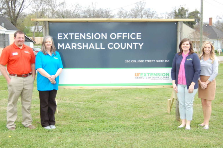 Marshall County Extension Office Sign